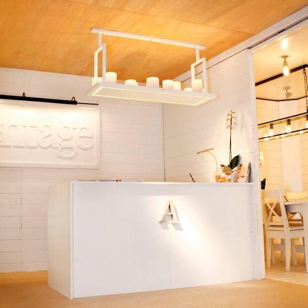 Luminaire suspendu rustique led blanc bronze 12 bougies for Luminaire suspendu blanc