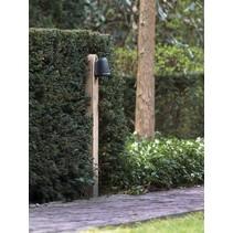 Lampadaire exterieur bois rural bronze-chrome GU10 1m