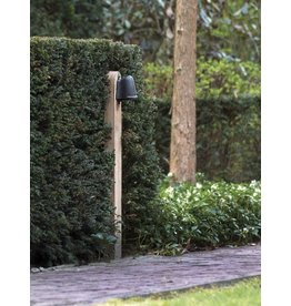 Lampadaire exterieur design bronze chrome nickel e27 40cm for Lampadaire exterieur bois