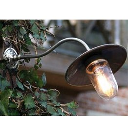 Lampadaire exterieur design bronze chrome nickel e27 40cm for Applique murale exterieure rustique