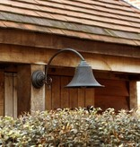Wandlamp buiten landelijk brons boog E27 60cm diep