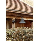 Outdoor wall light rural bronze curve E27 60cm deep