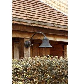Outdoor wall light rural bronze curve E27 60cm deep