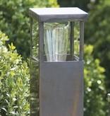 Tuinpaal verlichting landelijk brons-chroom-nikkel 60cm H