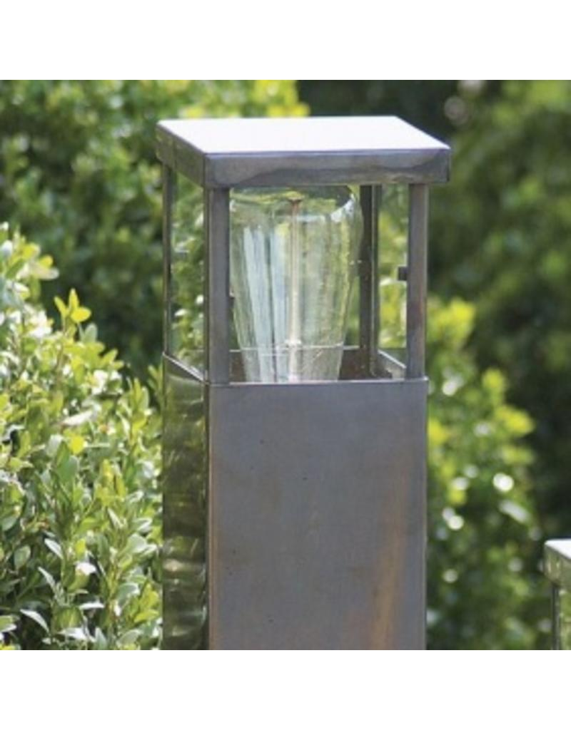 Bollard light rural bronze, chrome, brushed nickel 60cm H