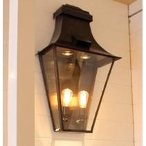Luminaire suspendu rustique lanterne bronze nickel 60cm for Applique murale exterieure rustique