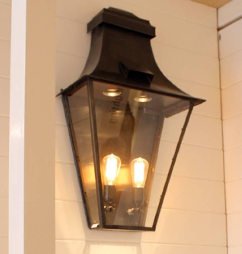 Outdoor wall light lantern rustic GU10+E27 90cm high