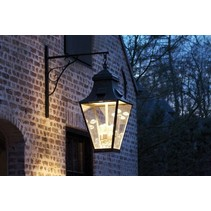 Outdoor wall light lantern rustic on hook 4xGU10+4xE27