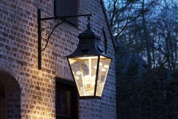 Outdoor Wall Light Lantern Rustic On Hook 4xgu10 4xe27
