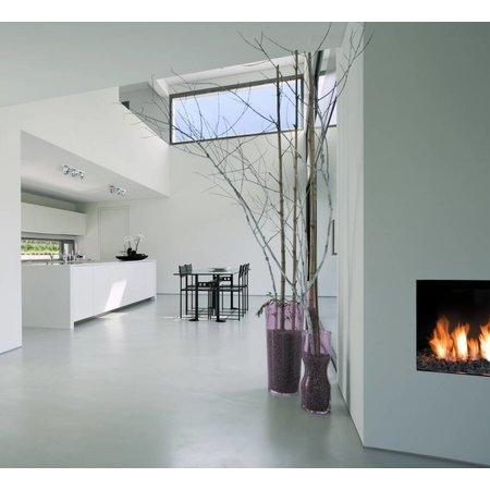 Plafondlamp wit, zwart of zilver 470mm breed richtbaar