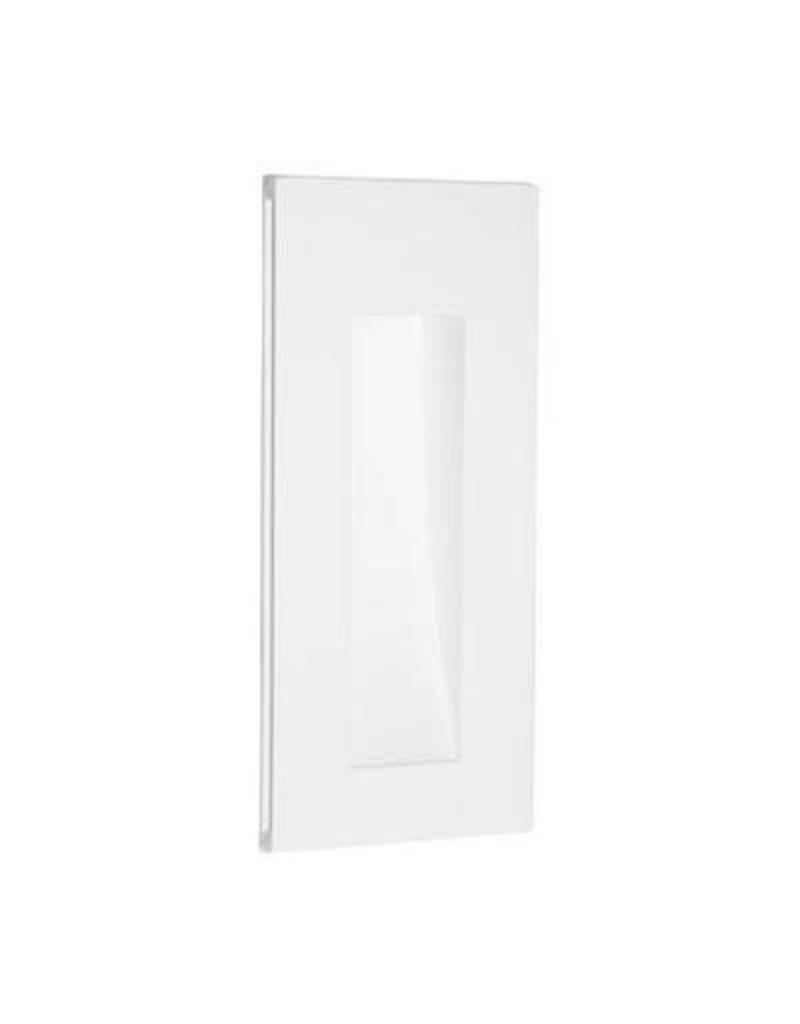 Wall light LED plaster rectangular frontal 245mm high 1W