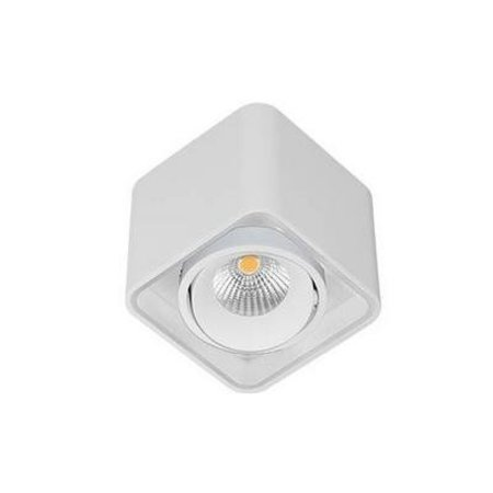 Ceiling light fixture LED orientable square 100mm W 10W