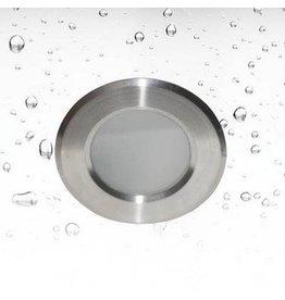 Inbouwspot badkamer rond inox diameter 85mm GU10