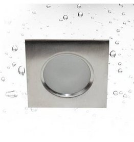 Downlight square waterproof inox 85mm wide GU10 IP65