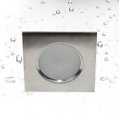 Downlight square waterproof inox 85mm wide GU10 IP65