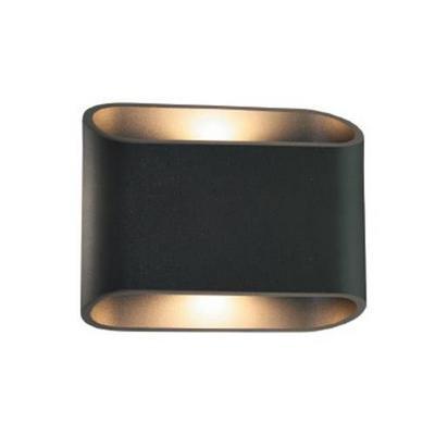 Wandlamp buiten led zwart of wit up down 180mm 2x5w for Gamma verlichting binnen