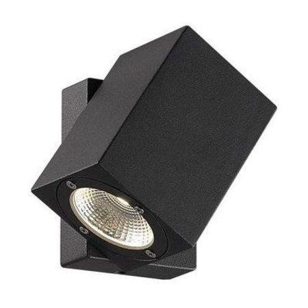 Outdoor wall light LED black orientable 100mm high 7W
