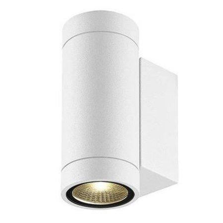Wandlamp buiten LED up down wit, zwart 160mm H 2x3W