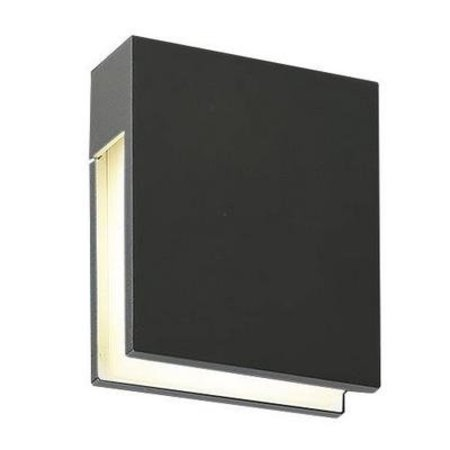 Outdoor wall light LED white, anthracite rectangular 3W