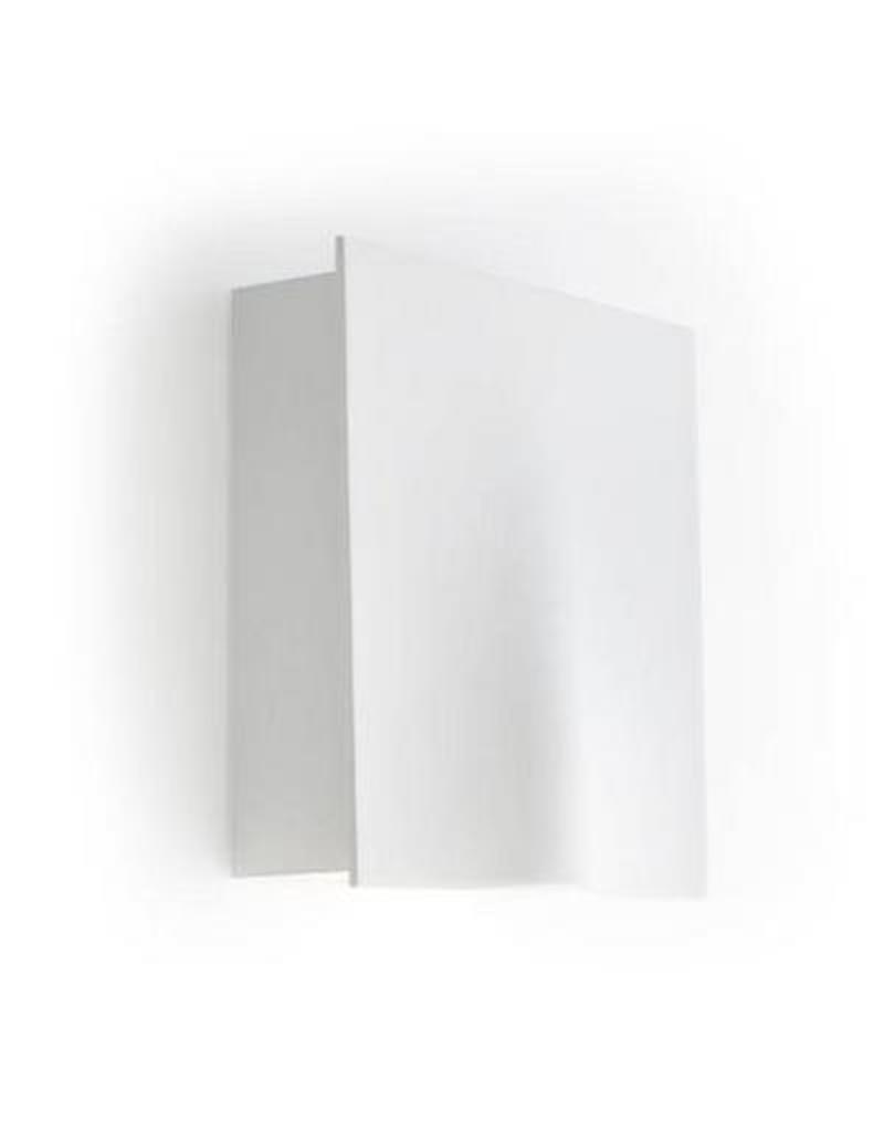applique murale exterieure led blanche 158mm haut 26w. Black Bedroom Furniture Sets. Home Design Ideas