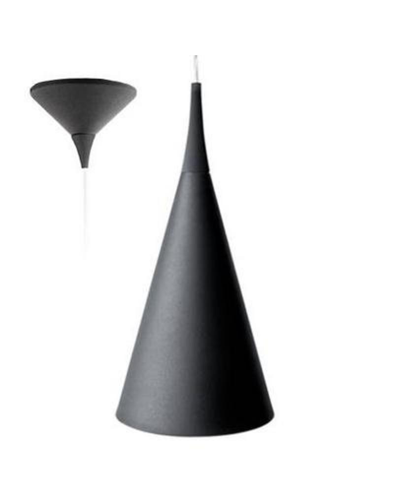Luminaire suspendu design chrome blanc noir 430mm h for Luminaire suspendu noir
