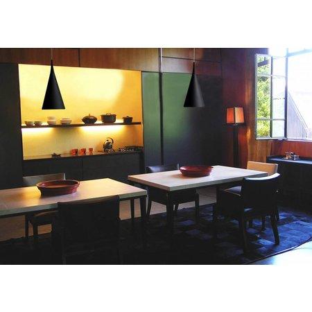 luminaire suspendu design chrome blanc noir 430mm h myplanetled. Black Bedroom Furniture Sets. Home Design Ideas