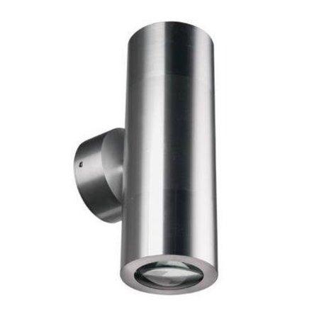 Wandlamp buiten cilinder grijs 196mm hoog GU10