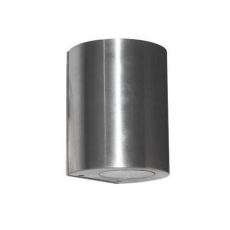 Wandlamp buiten LED cilinder grijs 100mm hoog 4W