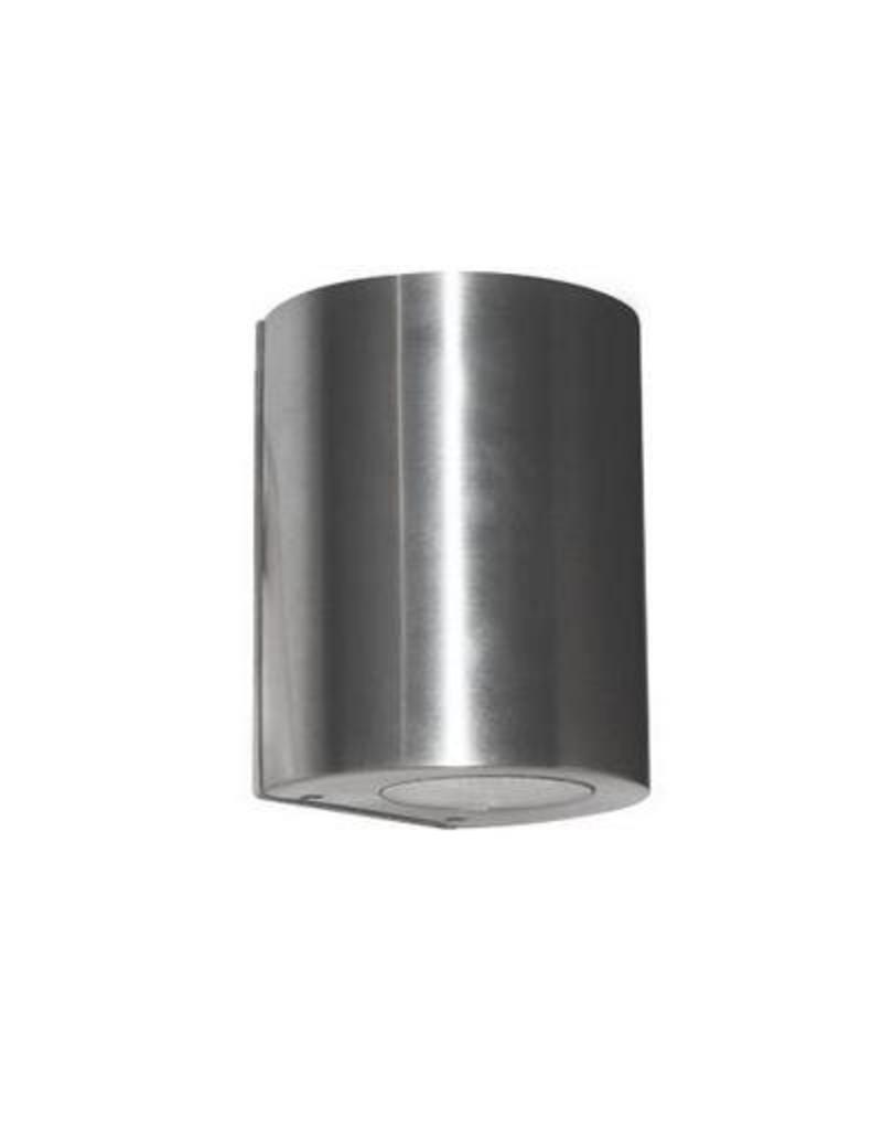 Applique murale exterieure led cylindrique grise 100mm for Applique murale exterieure ronde