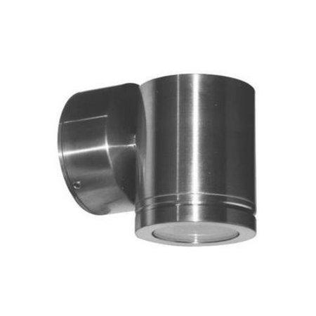 Wandlamp buiten LED cilinder grijs 76mm hoog 4W