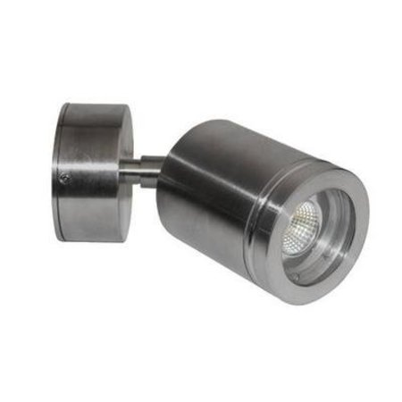 Applique murale exterieure LED orientable cylindrique grise 77mm ...