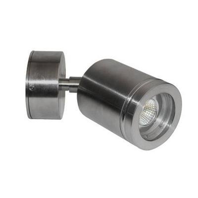 Wall light LED outdoor orientable cylinder grey 77mm high 4W