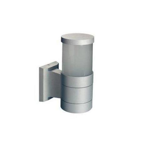 Applique murale exterieure 360° cylindrique noire ou grise 203mm E27