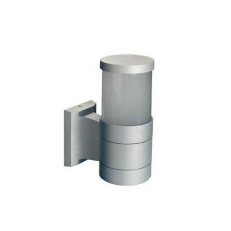 Wall light outdoor 360° cylinder black or grey 203mm high E27