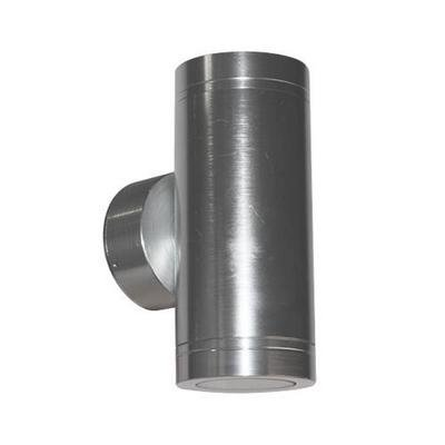 Wall light outdoor LED cylinder grey 147mm high 2x4W