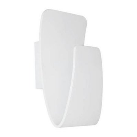 Wall light LED white-black gold curved 265mm high 7,5W