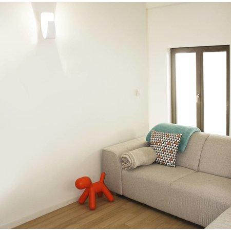 Applique murale LED blanche- noire dorée courbe 265mm haut 7,5W
