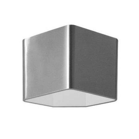 Applique murale LED grise blanche carrée 115mm haut 7,5W