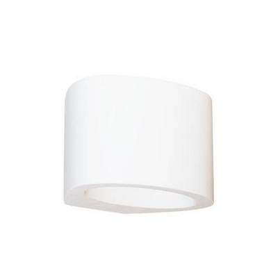 Wall light LED plaster oval 125mm wide 5W