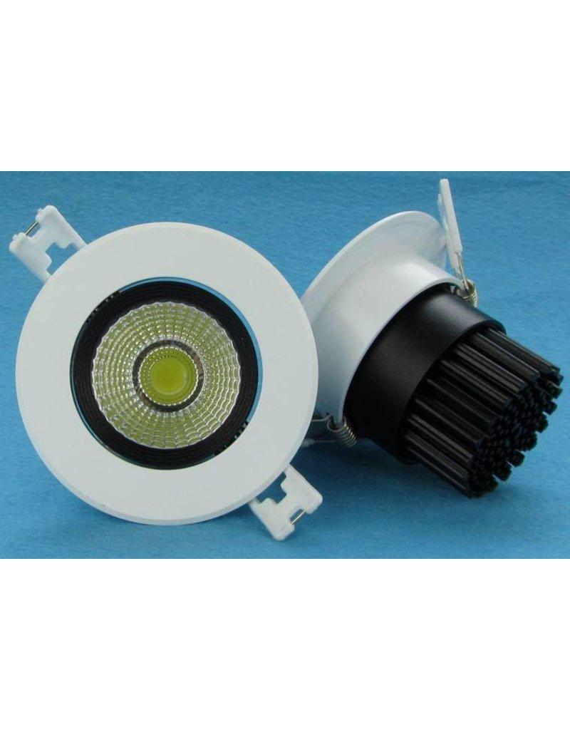Downlight recessed 5W LED orientable 15°/24°/38°/60° beam