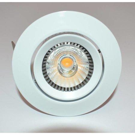 Inbouwspot LED 6W richtbaar grijs, wit 38°/60° driverless