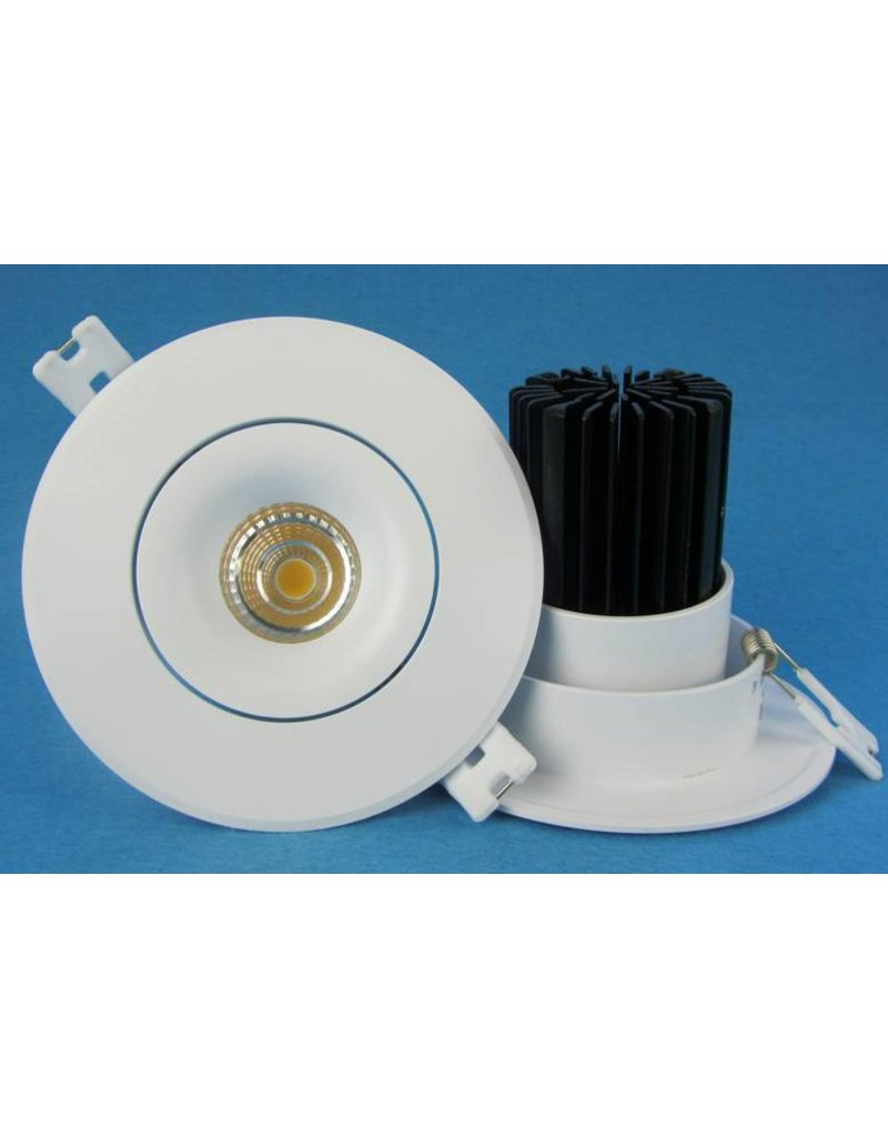 Downlight recessed 12W LED orientable 24° or 36° design