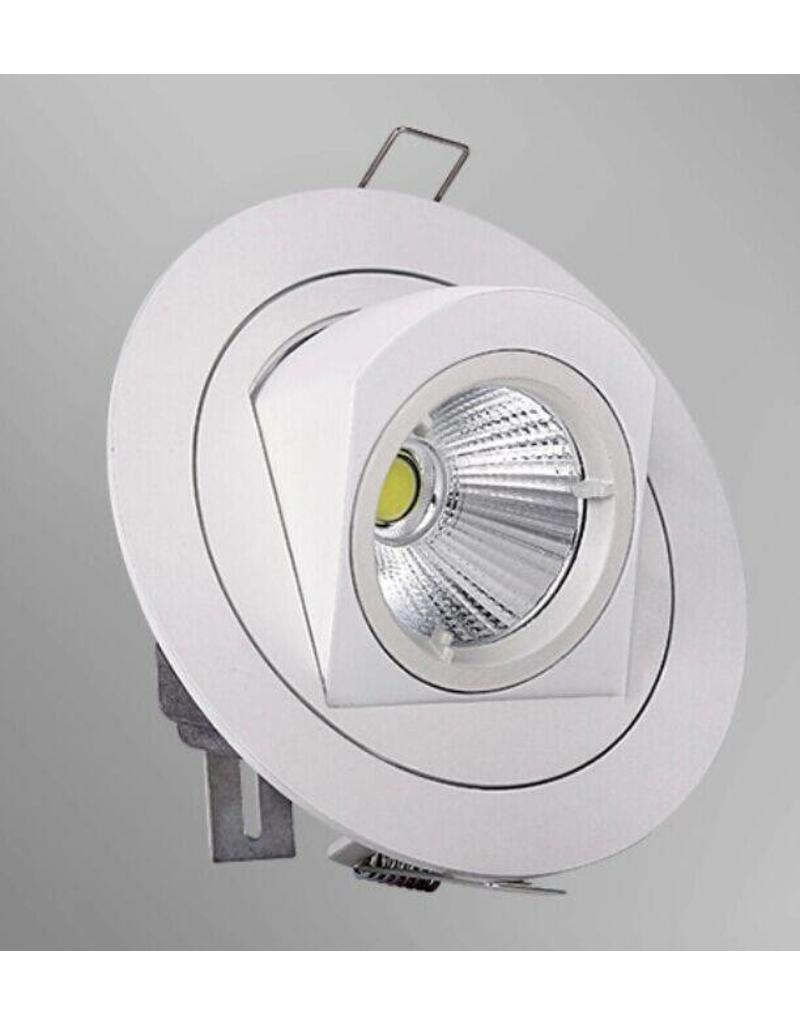 Downlight recessed LED 10W 360° orientable 126mm Ø