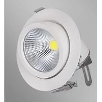 Spot encastrable LED 15W 360° orientable 155mm Ø blanc