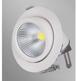 Downlight recessed 20W LED 360° orientable 155mm Ø