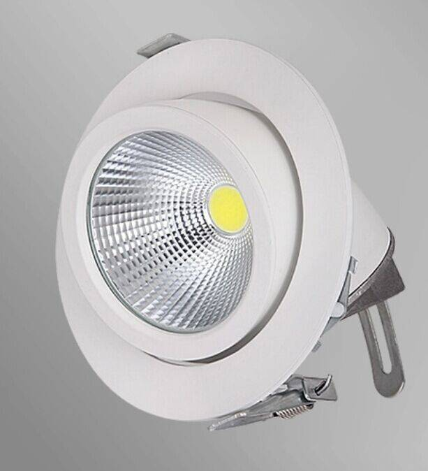 Downlight recessed 20w led 360 orientable 155mm - Downlight led 20w ...