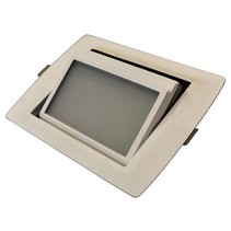 Downlight recessed LED rectangular 30W orientable 246x168