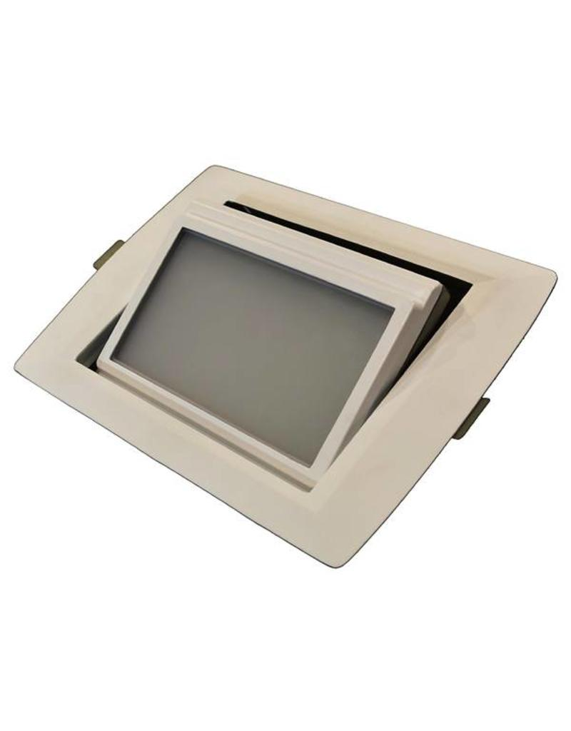 Downlight recessed LED rectangular 30W orientable 246x168