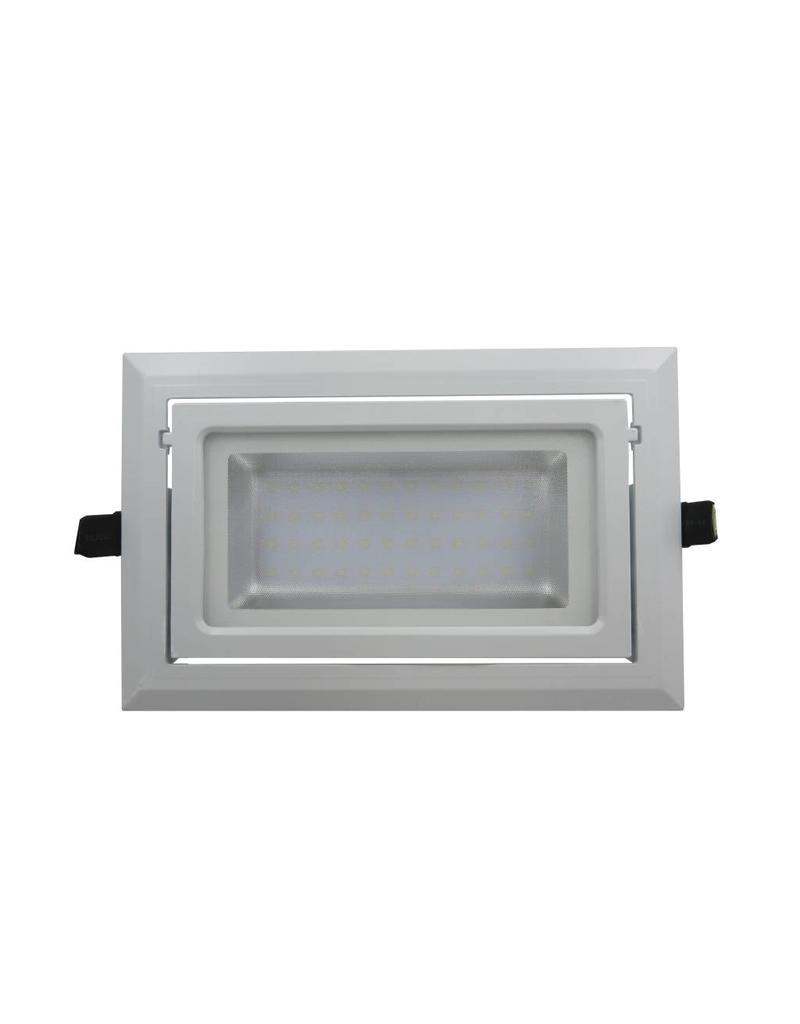 Downlight recessed LED rectangular 40W orientable