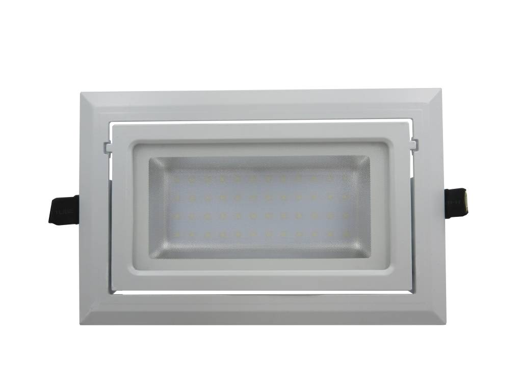 Spot encastrable rectangulaire led 40w orientable dimmable for Spot led interieur encastrable